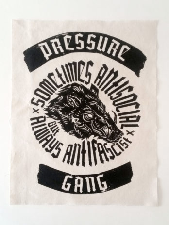 Antifascist Pig | Backpatch